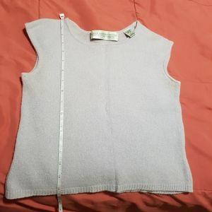 Valerie stevens petites 2 ply cashmere top